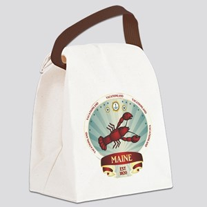 Maine Lobster Crest Canvas Lunch Bag
