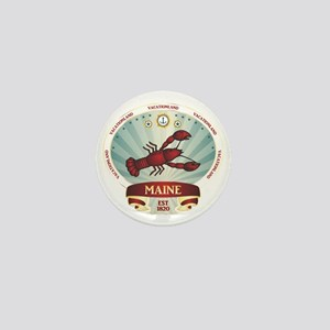 Maine Lobster Crest Mini Button