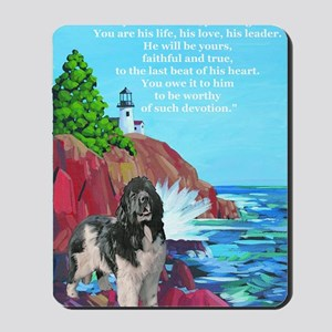 landseer and lighthouse Mousepad