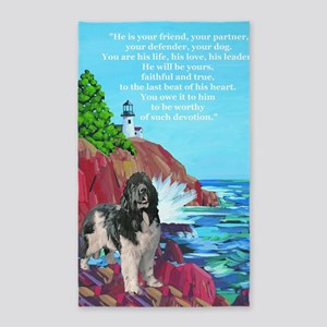 landseer and lighthouse 3'x5' Area Rug