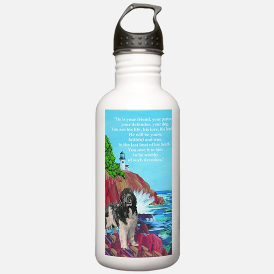 landseer and lighthous Water Bottle
