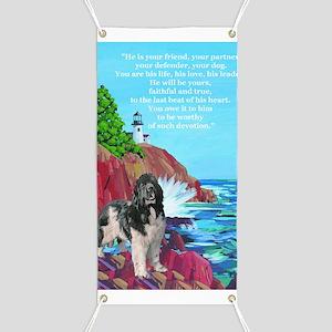 landseer and lighthouse Banner