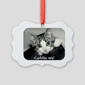 Cuddle me oval Picture Ornament