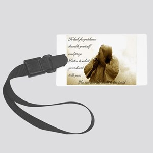 Talk with God Large Luggage Tag