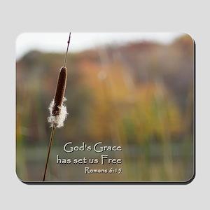 Gods Grace Cattail Mousepad