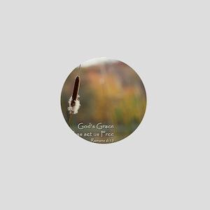 Gods Grace Cattail Mini Button