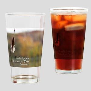 Gods Grace Cattail Drinking Glass