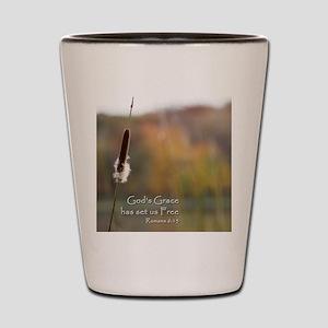 Gods Grace Cattail Shot Glass