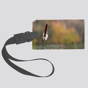 Gods Grace Cattail Large Luggage Tag