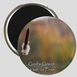 Gods Grace Cattail Magnet