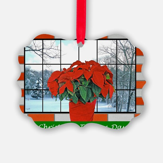 For Our Daughter Christmas Greeti Ornament