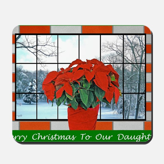 For Our Daughter Christmas Greeting Card Mousepad