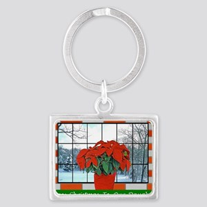 For Our Daughter Christmas Gree Landscape Keychain