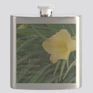 Lily with Water Drops Flask