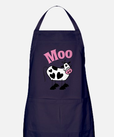 Heart Cow Apron (dark)