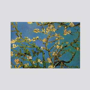 van gogh blossoming almond tree Rectangle Magnet