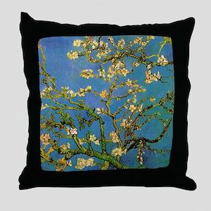 van gogh blossoming almond tree Throw Pillow