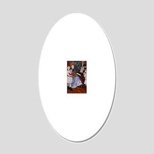 renoir 20x12 Oval Wall Decal