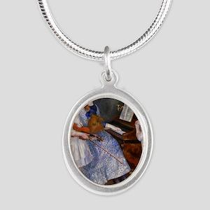 renoir Silver Oval Necklace