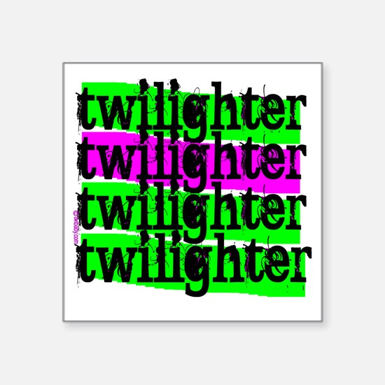 "twilighter horizontal copy Square Sticker 3"" x 3"""