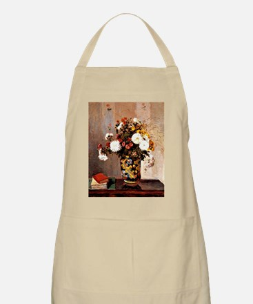 Chrysanthemums in a Chinese Vase - Camille P Apron