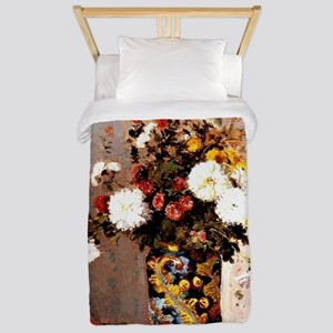 Chrysanthemums in a Chinese Vase - Cami Twin Duvet