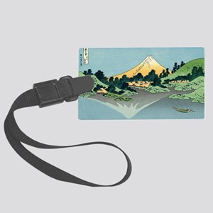 mount fuji hokusai Large Luggage Tag