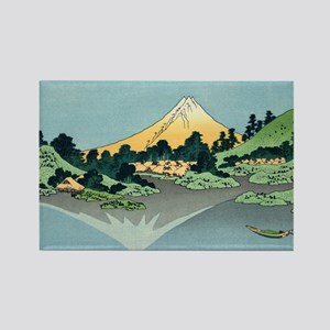 mount fuji hokusai Rectangle Magnet