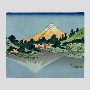 mount fuji hokusai Throw Blanket