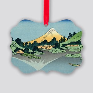 mount fuji hokusai Picture Ornament