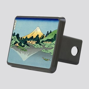 mount fuji hokusai Rectangular Hitch Cover