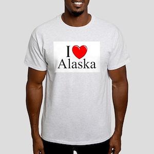 """I Love Alaska"" Ash Grey T-Shirt"