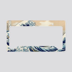 hokusai great wave License Plate Holder