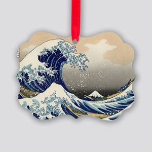 hokusai great wave Picture Ornament
