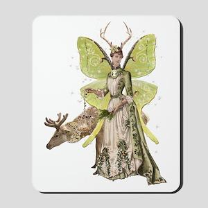 Reindeer Guardian victorian angel Mousepad