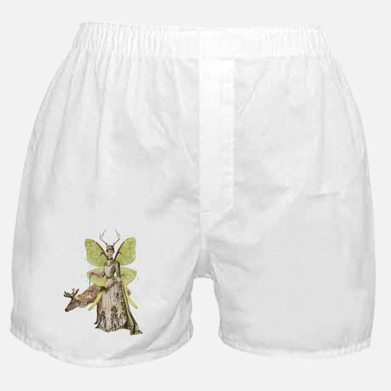 Reindeer Guardian victorian angel Boxer Shorts