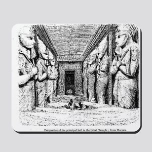 egypt great temple hall Mousepad