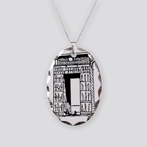 egypt gate karnak Necklace Oval Charm