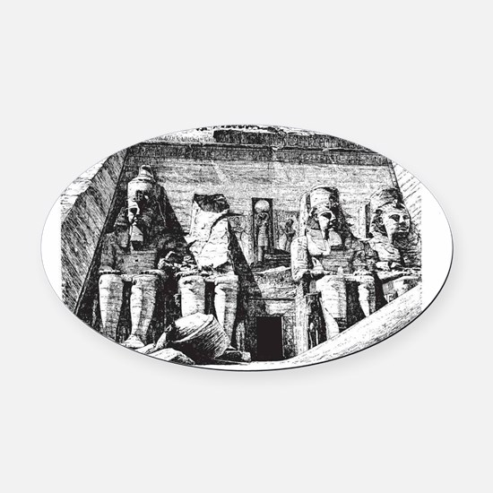 egypt great temple Oval Car Magnet