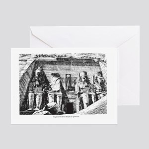 egypt great temple Greeting Card