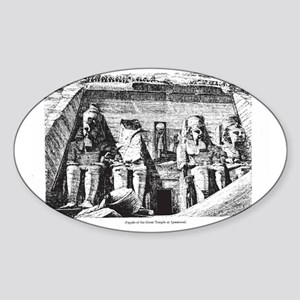 egypt great temple Sticker (Oval)