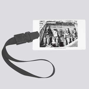 egypt great temple Large Luggage Tag