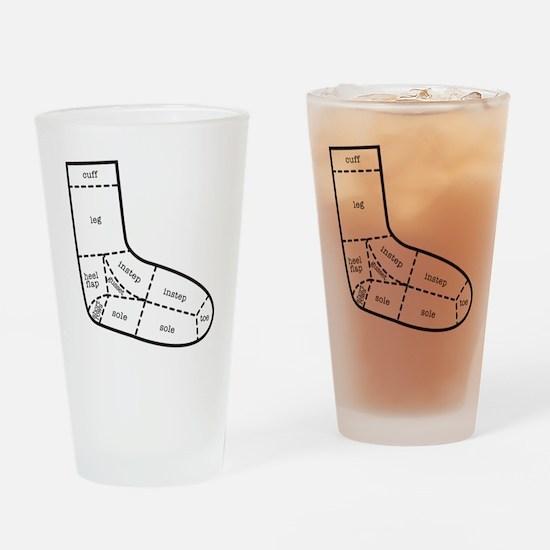 sock partsBLACK Drinking Glass