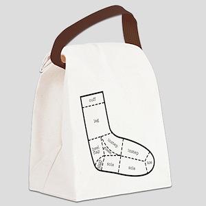 sock partsBLACK Canvas Lunch Bag