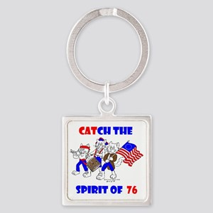 Catch The Spirit Again Square Keychain