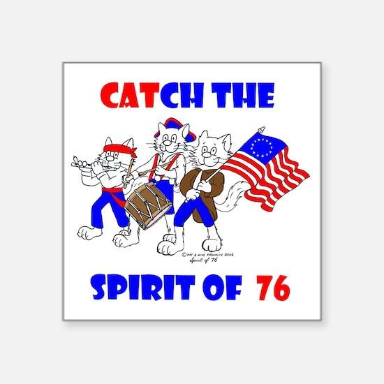 """Catch The Spirit Again Square Sticker 3"""" x 3"""""""