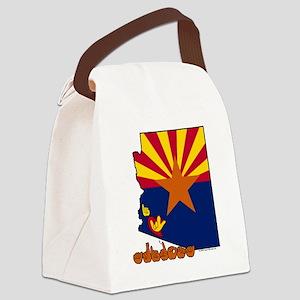 AZstateFlagILY Canvas Lunch Bag