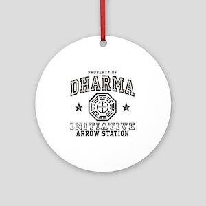 Dharma Arrow Round Ornament