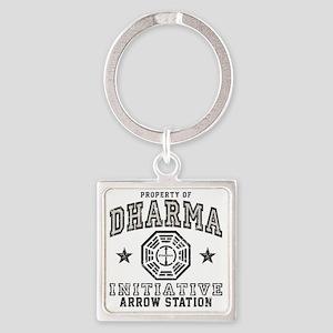 Dharma Arrow Square Keychain