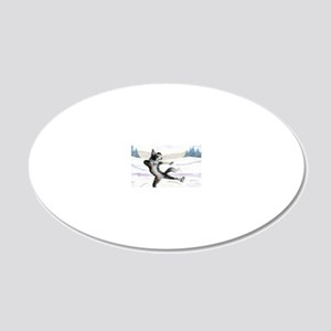 She was at one with the ice 20x12 Oval Wall Decal
